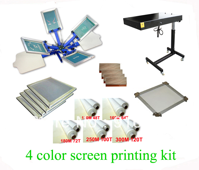 FAST FREE shipping! Hot Big Discount 4 color 2 station silk screen printing kit with flash dryer t-shirt printer stretched frame original anycubic 3d pinter kit kossel pulley heat power big size 3d printing metal printer fast shipping from moscow