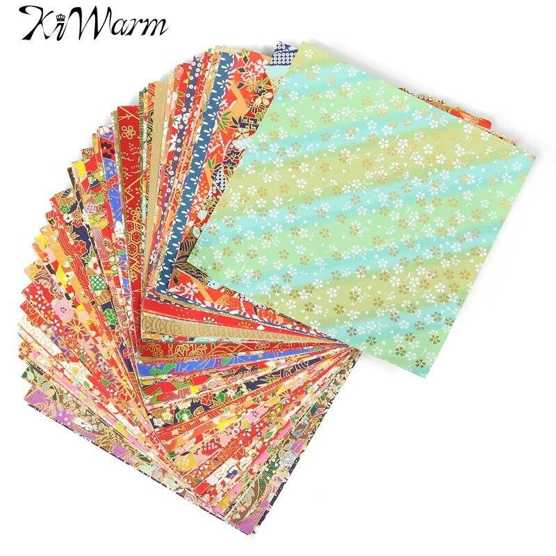 Bestnote 100 Blätter Mixed Muster Japanischen Blume Floral Origami Klapp Papier Handgefertigte Materialien Gefaltet Papier Handwerk 14x14 cm