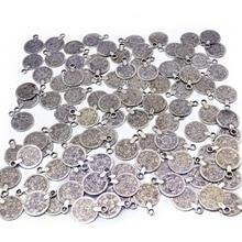 Цыганское богемное пляжное шикарное резное цветочное ожерелье с подвеской в виде монеты, серебряное, тибетское, этническое, турецкое, аксессуары