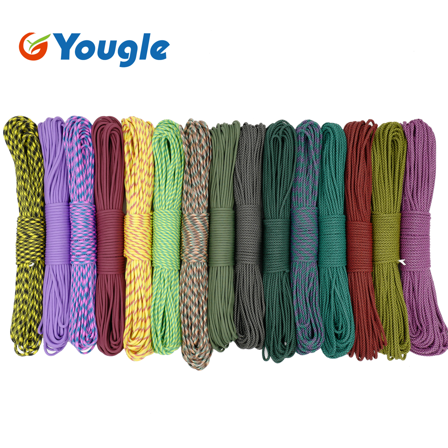 New 550 LB 50FT 100FT 4mm Dia 9 Strand Paracord Parachute Cord Lanyard Tent Rope Guyline Mil Spec Type III  For Hiking Camping