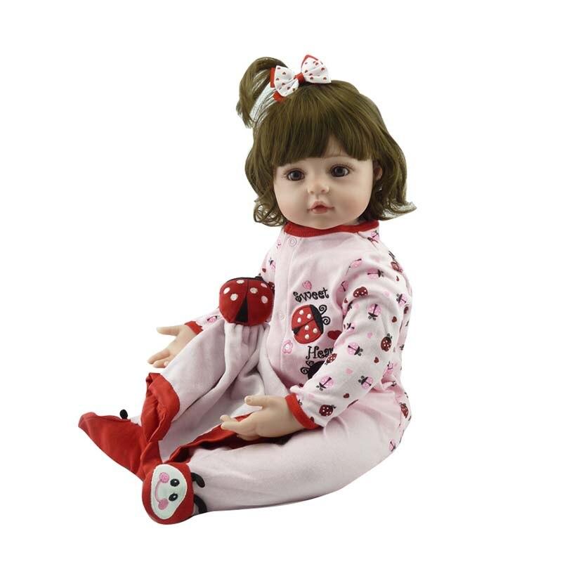 55cm Hot sale Victoria adora Lifelike newborn Baby  Bebe kid toy girl full silicone reborn baby dolls
