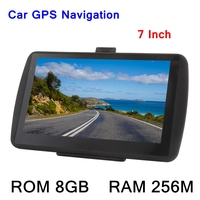 7inch HD Touch Screen Car Portable GPS Navigator 256M 8GB MP3 Video Player Car Entertainment System