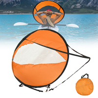 42.5inch Outdoor Foldable Kayak Canoe Boat Sails Portable Popup Scout Wind Sail Paddle Surfboard Downwind