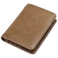 2018 fashion leather short wallet men quality card slot driver license credit wallet's clutch men's purse card holder wallet men