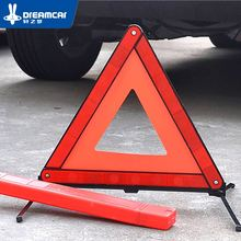 Auto Car Red Breakdown Warning Triangle Emergency Reflective Safety Hazard Sign Cars Tripod Folded Stop Reflector