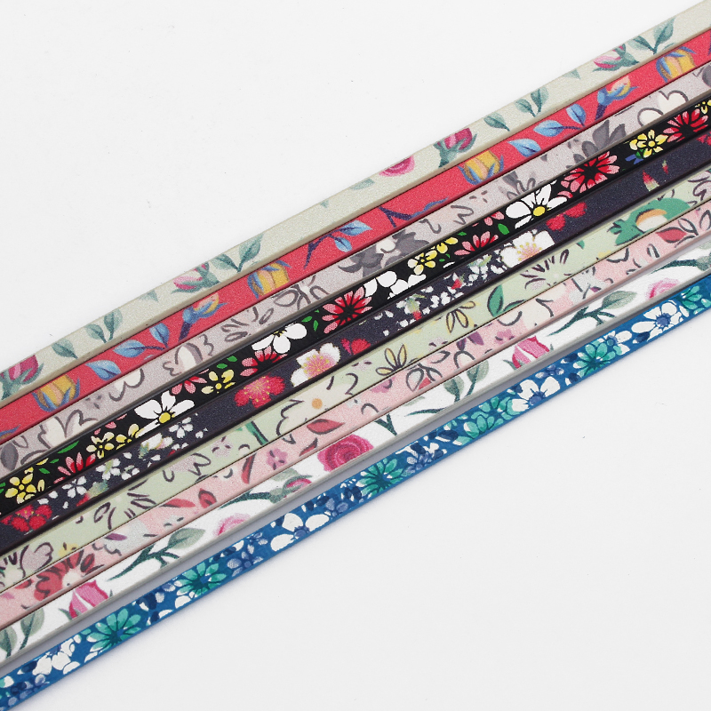 1 Meter Chinoiserie Flat Flower PU Leather Cord For Bracelet Necklace Anklet Making Rope DIY Fashion Jewelry Findings 5*2mm