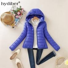 Zipper Hooded Women Winter Jacket 2017 New Brand Spring Autumn Slim Warm Coat Solid Color Short