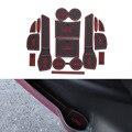 15 Pçs/set Car Styling Sulco Ranhura Pad Porta Interior Almofada De Látex Mat Anti-Slip Para Nissan New X-trilha 2014-2016