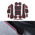 15 Unids/set Carstyling Pad Ranura Puerta Interior Ranura Estera de Látex Antideslizante Amortiguador Para Nissan Nuevo X-pista 2014-2016