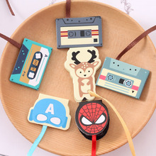 1Pcs Creative Cartoon Paper Magnetic Bookmarks Paper Clips for Book School Office Supplies Stationery