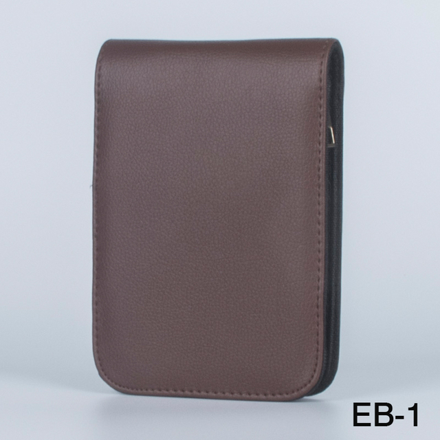 Fountain Pen Case for 12 Pens PU Leather Brown with black Zipper