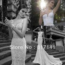 Vestido De Noiva 2014 Sexy Country Lace Wedding Dress Vintage Mermaid Bridal Gown Casamento