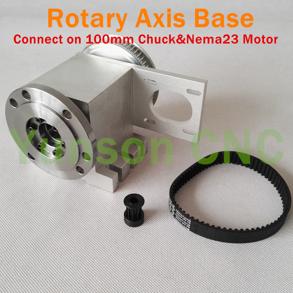 Rotary Axis Hollow Shaft 4th Axis Rotational A Axis 3//4jaw 100mm Chuck/&Tailstock