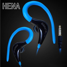 HENA Factory Hanging ear style mobile phone headset with micphone HIFI sound bass intelligent universal headset stereo earphone