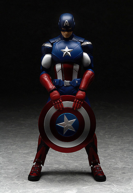 New hot sale anime figure toy Figma226 The Avengers Captain America 16CM gift for children free shipping