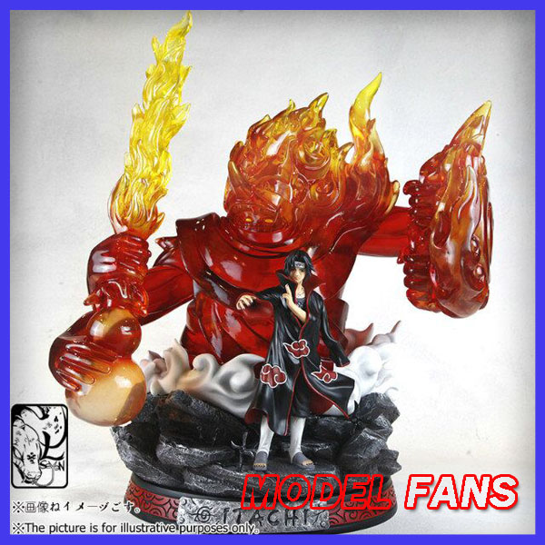 MODEL FANS IN-STOCK 60cm NARUTO Uchiha Itachi Tempestuous God of Valour GK resin statue contain led light figure for