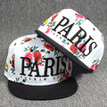 PARIS rose snapback cap for women men baseball cap letter girls hats caps casquette touca feminina gorras planas hip hop swag