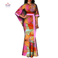 2019 summer Plus Size o neck dresses women traditional african fashion Clothing Dashiki half sleeve cotton long dress 7xl WY2329