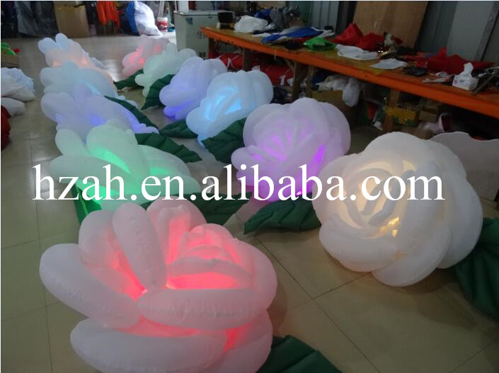 Light Inflatable Rose Flower Inflatable Flower Video party decor inflatable rose flower with light