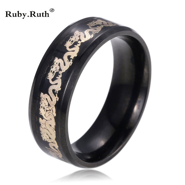 Dragon Wedding Rings For Women Gold Color Stainless Steel Men Jewelry Wholesale Ring