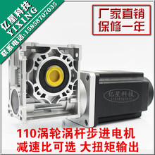 110 worm gear stepping motor 16N/20N stepper high torque reduction ratio optional