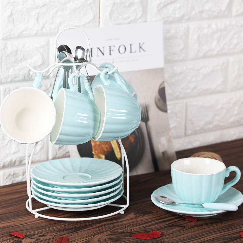 Ensemble de tasse à café en céramique accueil après-midi tasse à thé soucoupe ensemble de thé anglais pour envoyer le support