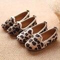Clásico nueva Mohair niñas zapatos de moda del patrón del leopardo de las muchachas de la princesa de los niños de los zapatos de leopardo