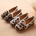 Classic new Mohair girls fashion shoes leopard pattern girls princess shoes children's shoes Leopard