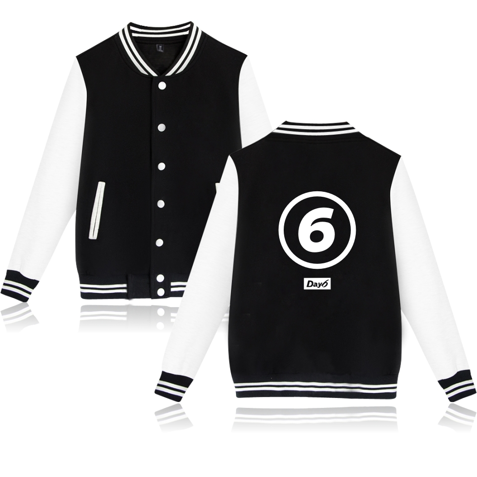 Kpop Korean New Boy Band DAY 6 Jacket Hoodies Fashion Clothing Band DAY 6 Jacket Men Women Baseball Uniform