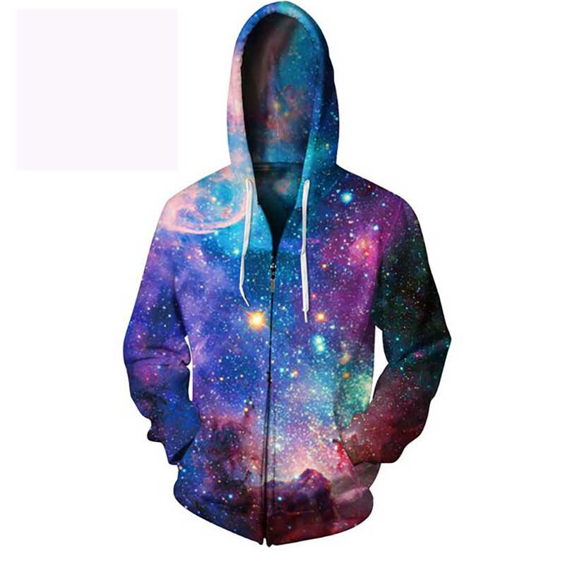 Cloudstyle 2018 3d Hoodies Harajuku Wind Sweatshirt Fashion Design Zipper Hoodies mens sportswear Colorful jacket Plus Size 5XL