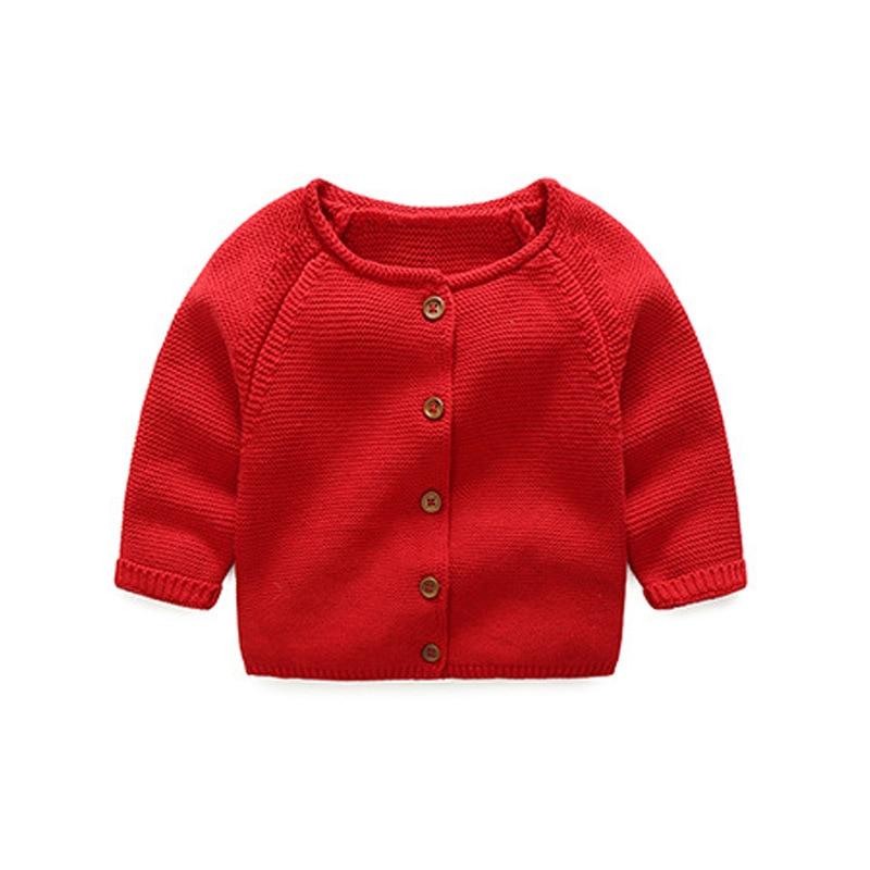 Осенние для маленьких девочек мальчиков Рождество шерстяной свитер детская повседневная одежда Длинные рукава Детская верхняя одежда ardigan...