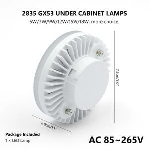 Image 2 - NEW GX53 LED Light 5W 7W 9W 12W 15W 18W Lampada LED Cabinet LED Bulb Ac 110V 220V Wine Cabinet Light Warm Cold White Spotlight