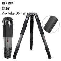 Bexin fotografia Professionale In Fibra di Carbonio Treppiede DSLR video camera camcorder Heavy duty Birdwatching Treppiede Della Macchina Fotografica