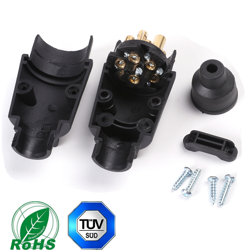 Image 3 - 12 v 7 pin trailer male plug adapter connector 7 way core truck rv car accessory lorry female plastic socket Towing Electric-in Trailer Couplings & Accessories from Automobiles & Motorcycles