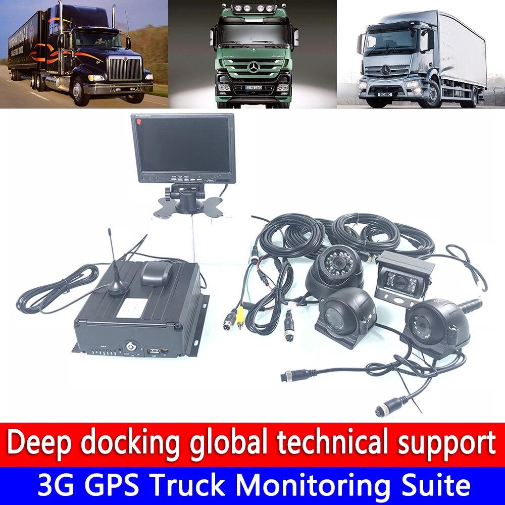 Nova listagem 4-channel coaxial HD gravação de vídeo cartão SD remoto 3G kit de monitoramento GPS do caminhão de transporte de dinheiro caminhão/caminhão grande