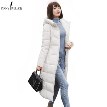 PinkyIsblack chaqueta de invierno mujeres abrigo 2018 chaqueta acolchada de algodón largo con capucha espesar Parkas más tamaño 6XL chaqueta mujer