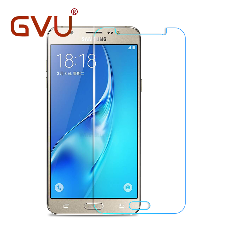 GVU 0.26mm 9H Tempered Glass For Samsung Galaxy J1 J2 J3 J5 J7 Prime 2016 E5 Explosion Proof Anti Shatter Screen Protector Film