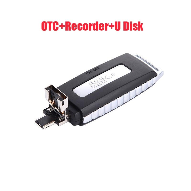 TORTOYO Mini Portable Digital Voice Recorder Smart Noise Reduction Study Conference Interview Recorder+OTG Micro+USB Flash Drive