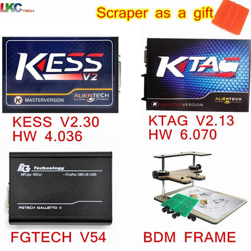 Prix pour Ensemble professionnel Kess V2 4.036 V2.30 + KTAG 2.13 FW6.070 + FGtech Galletto 4 V54 + BDM Frame No Limitée ECU Chip Interface DHL livraison