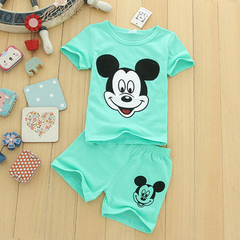 Children's Clothing 2019 Summer New Casual Baby Boy Girl Set 1