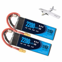 цена на 2PCS DXF lipo battery 11.1v 2200mAh 3S 35C 25C MAX 70C For Trex-450 Fixed-wing RC Helicopter Car Boat quadcopter