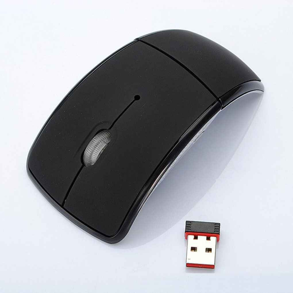 Top Selling Arc 2.4G Wireless Folding Mouse Cordless Mice USB Foldable Receivers Games Computer Laptop Accessory