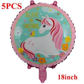 1PC 100*97CM Pink Horse Little Pony Unicorn Foil Balloons Helium Balloon Kids Toys Wedding Birthday Animal Party Decor Supplies 18
