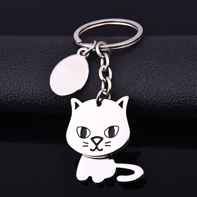 cat keychain cute key ring for women kitty key chain key holder high quality por