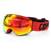 COPOZZ Professional Ski Goggles Double Layers Anti Fog Adult Men Women Eyewear Snowboard Skiing Glasses Goggles