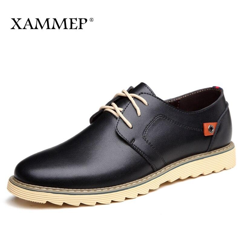 купить Men Casual Shoes Brand Genuine Split Leather Shoes Men Shoes Men Sneakers Men Flats Plus Big Size Slip On Spring Autumn Xammep по цене 2237.68 рублей