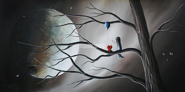 Black u0026 White And Red Beautiful Serene Art By Shawna Erback Landscape Wall Art Oil Painting & Black u0026 White And Red Beautiful Serene Art By Shawna Erback ...