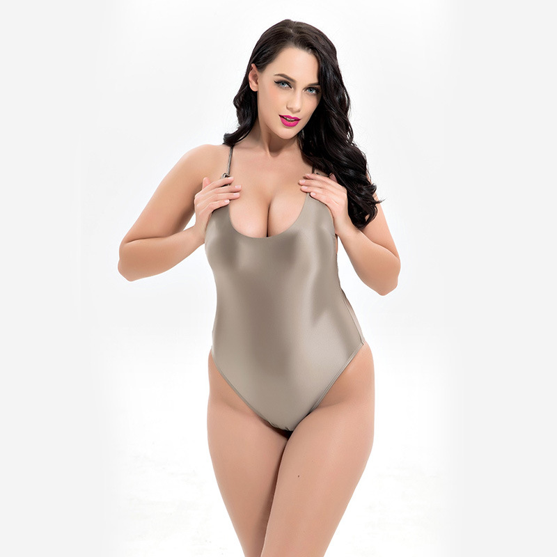 FLYBAZZZ Women Plus Size One Piece Suit Swimwear Sexy Hollow Lace Up Padded Swimming Suit Retro Bodysuit Bathing Suit Beachwear in Body Suits from Sports Entertainment