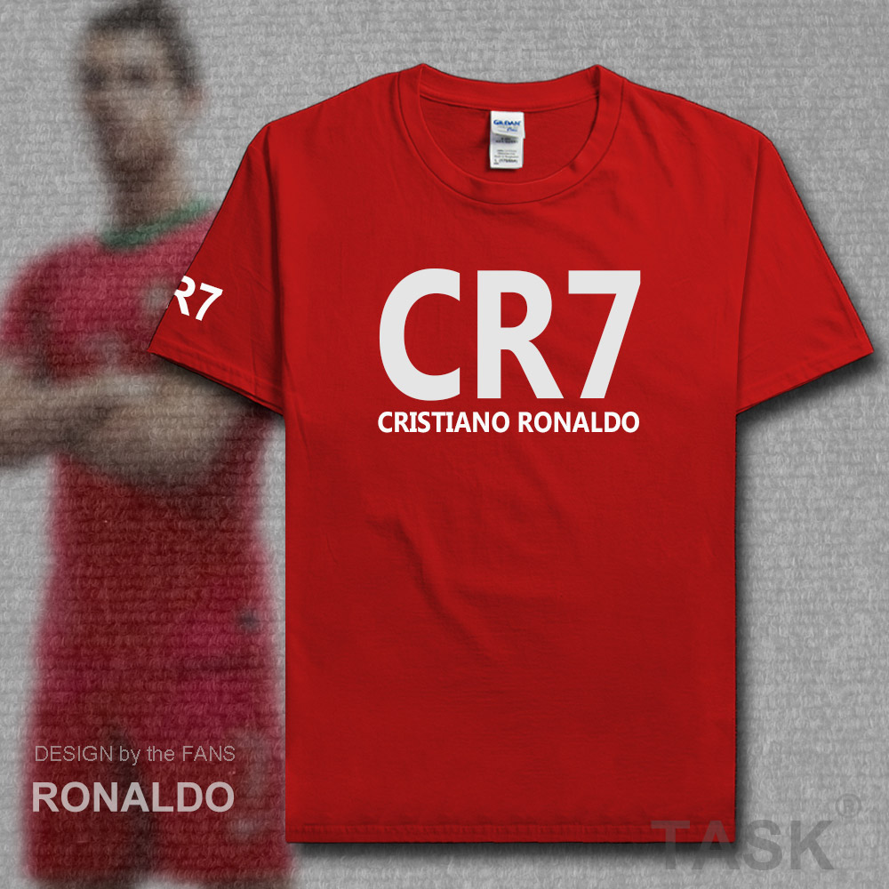 Tops & Tees Men's Clothing Cip 100% Cotton Cristiano Ronaldo Cr7 Summer Clothes Cartoon Ronaldo T Shirt Men Hip Hop Loose T-shirt Tops Tees Brand Clothing