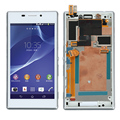 White For Sony Xperia M2 S50H D2302 D2303 D2305 D2306 Full LCD display touch screen digitizer assembly With Frame Replacement
